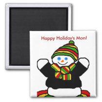 Reggae snowman magnet
