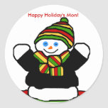 Reggae snowman stickers