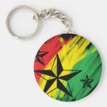 reggae stars basic round button keychain