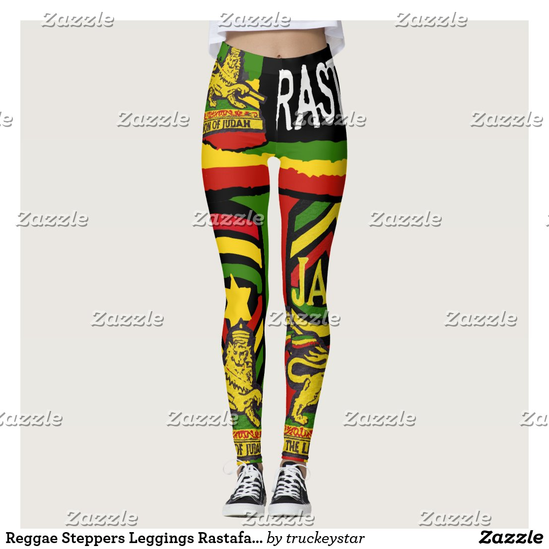Reggae Steppers Leggings Rastafarian Designs