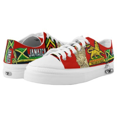 Jamaica Flag Low top Lace Up Sneakers | Zazzle com