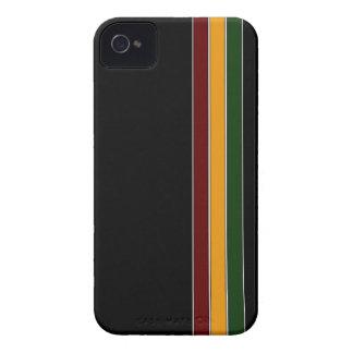 Reggae Stripe & Black iPhone 4 Case