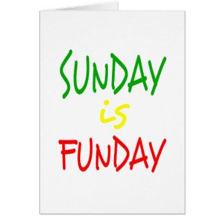 Reggae Sunday Is Funday Card