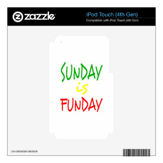 Reggae Sunday Is Funday Skin For iPod Touch 4G