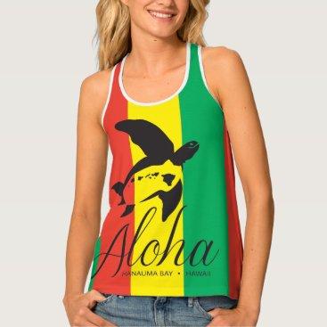 Hawaiian Themed Reggae Turtles in Hawaii Tank Top