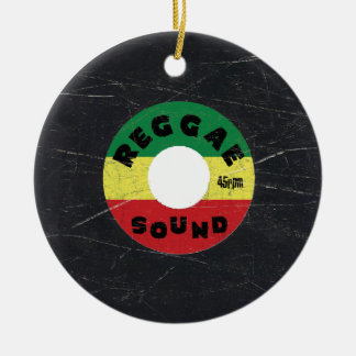 Reggae Vinyl Record Christmas Ornament
