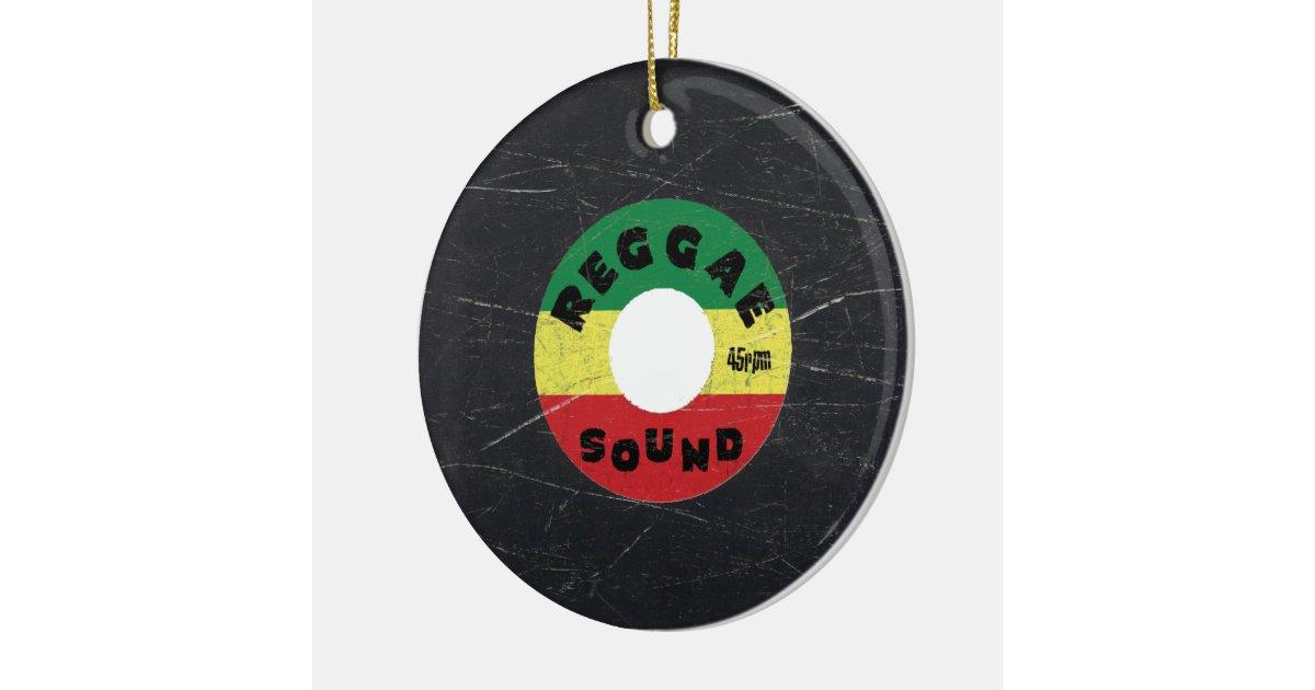 Reggae vinyl record christmas ornament zazzle