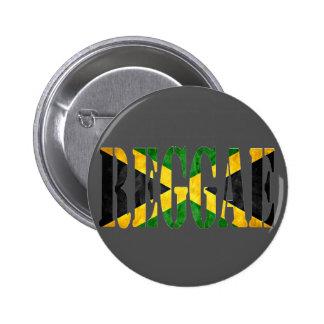 reggae with jamaica flag button