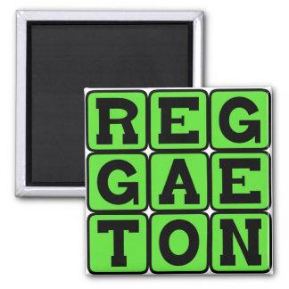 Reggaeton, Music Genre Fridge Magnet