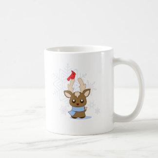 Reggie Reindeer & Jimmy Cardinal Coffee Mugs