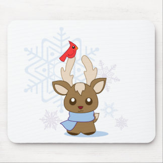 Reggie Reindeer & Jimmy Cardinal Mouse Pad