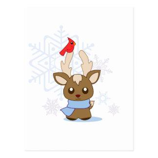 Reggie Reindeer & Jimmy Cardinal Postcard
