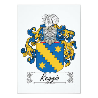 Reggio Family Crest Card
