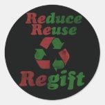 Regift para el navidad etiquetas redondas