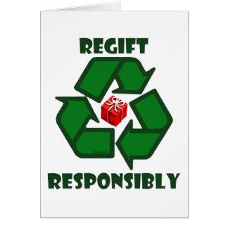Regift Responsibly Card