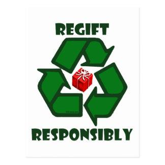 Regift Responsibly Postcard