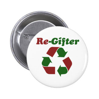 ReGifter for Christmas Pinback Buttons