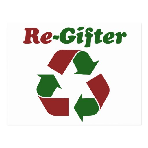 ReGifter for Christmas Postcard