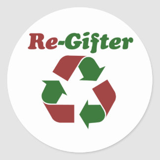 ReGifter for Christmas Round Stickers