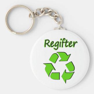 Regifter Basic Round Button Keychain