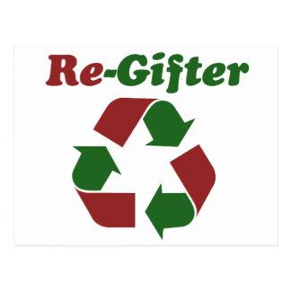 ReGifter para el navidad Postal