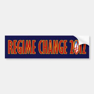 Regime Change 2012 Car Bumper Sticker