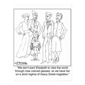 Régimen de la lectura de las tragedias griegas tarjetas postales