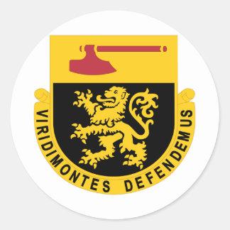 Regimiento 124 pegatinas redondas