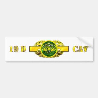 regimiento acorazado del Calvary 19D 3ro Pegatina De Parachoque