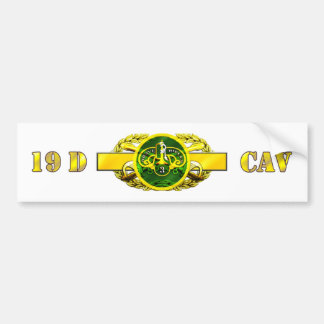regimiento acorazado del Calvary 19D 3ro Pegatina Para Auto