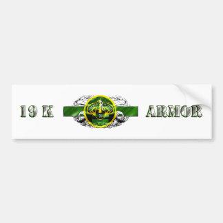 regimiento acorazado del Calvary 19K 3ro Pegatina Para Auto