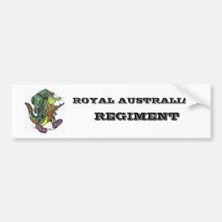REGIMIENTO AUSTRALIANO REAL ETIQUETA DE PARACHOQUE