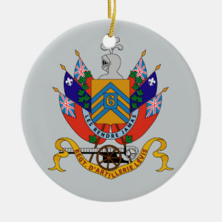 Regimiento D'Artillerie Levis (Armoiries) Adorno Navideño Redondo De Cerámica