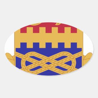 Regimiento de 174 armaduras pegatina ovalada
