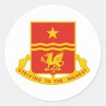 Regimiento de 30 artillerías de campaña pegatina redonda