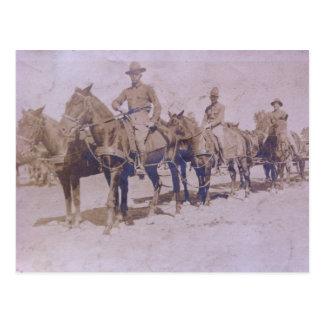 Regimiento de caballería americano del ejército postales