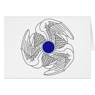 Regimiento de la aviación 222 tarjeta de felicitación