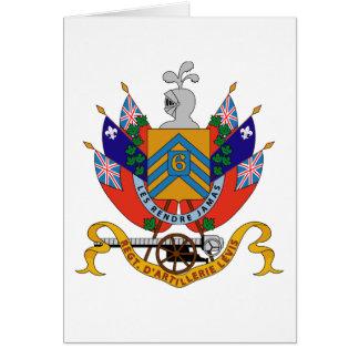 Regimiento de RCA 6e. D'Artillerie Levis Tarjeta