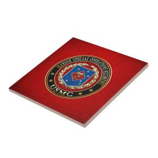 Regimiento marino de las operaciones especiales azulejo cuadrado pequeño