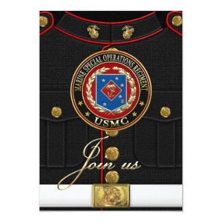 Regimiento marino de las operaciones especiales invitación 12,7 x 17,8 cm
