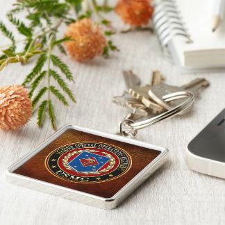 Regimiento marino de las operaciones especiales (M Llavero Cuadrado Plateado
