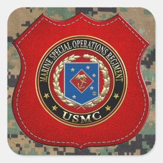 Regimiento marino de las operaciones especiales pegatina cuadrada