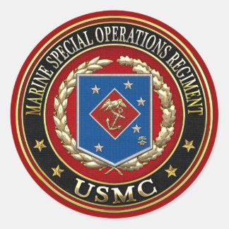 Regimiento marino de las operaciones especiales pegatina redonda