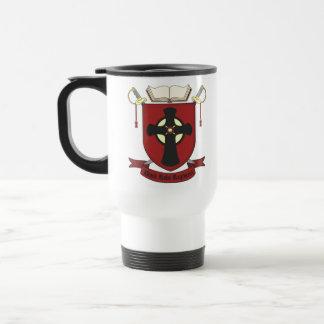 REGIMIENTO NEGRO DEL TRAJE TAZA DE CAFÉ