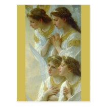 Regina Angelorum, Bouguereau 1900,  detail Angels Postcard