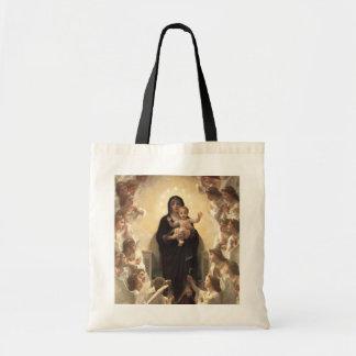 Regina Angelorum by Bouguereau, Victorian Angels Tote Bags