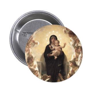 Regina Angelorum by Bouguereau, Victorian Angels Pins