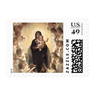 Regina Angelorum by Bouguereau, Victorian Angels Stamps