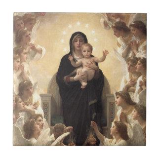 Regina Angelorum by Bouguereau, Victorian Angels Ceramic Tiles