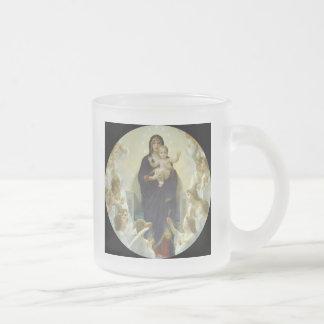 Regina Angelorum Maria con ángeles Taza De Cristal